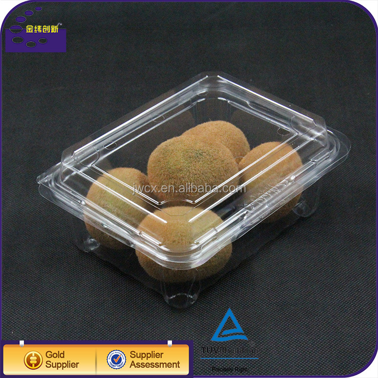Food grade disposable plastic clamshell packaging fruit box container