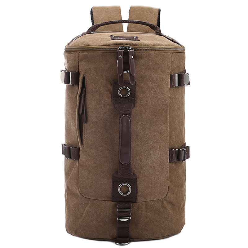 Large capacity man travel bag outdoor mountaineering backpack men bags hiking camping canvas bucket shoulder bag BYT012