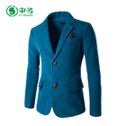 2017 New Design Two Buttons Blue Casual Suit Mens Silm Fit Blazer