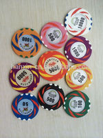 Wholesale casino chip zynga Custom logo Metal poker chips