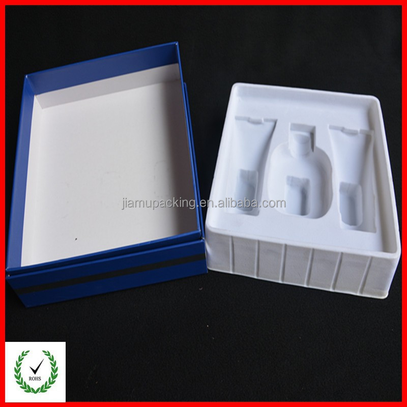 Customized cosmetic box with flocking tray