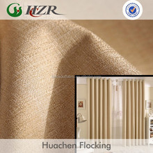Plain Linen Look Textured Room Darkening 3 Pass Acrylic Foam Coating FIre Retardant Blackout Fabric for Hospitality