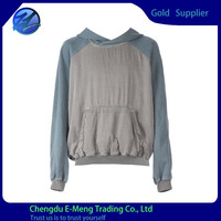 Casual Raglan Sleeves Blank Vintage Thin Cotton Bulk Wholesale Pullover Hoodies