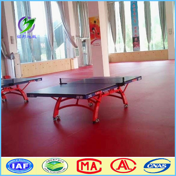 pvc table tennis court multi-purpose sports flooring