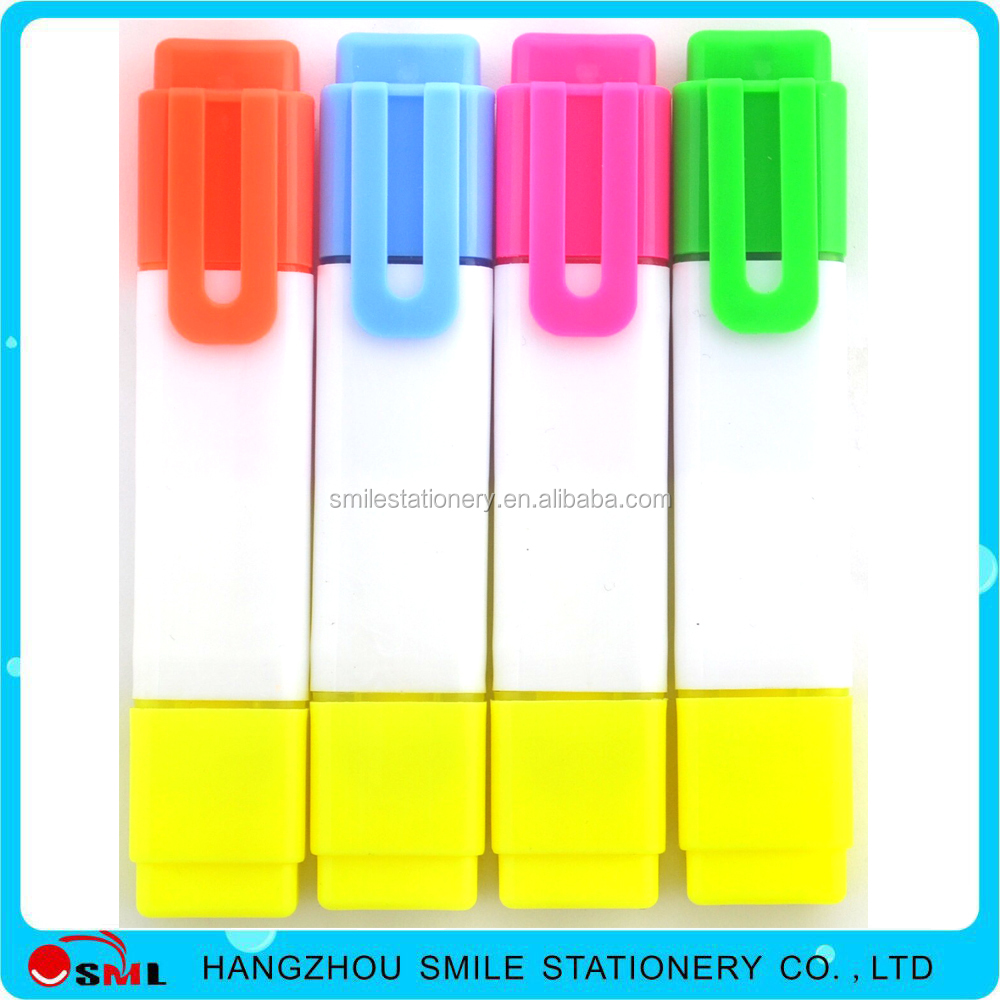 2016 Promotion Highlighter Maker Fluorescent Pen with Chisel Nib