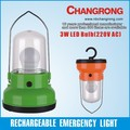 hot sale rechargeable 3W led bulb lantern with hook