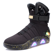VIPFOX High top new fashion LED shoe Men