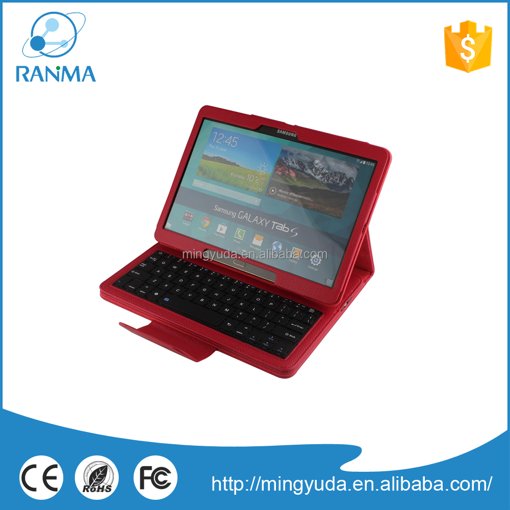 Factory Price Bluetooth Keyboard Leather Case For Galaxy