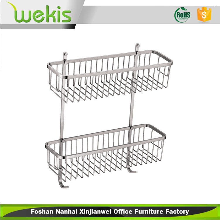 Household Items Bathroom Vanity 2 Tiers 304 Stainless Steel Storage Racks
