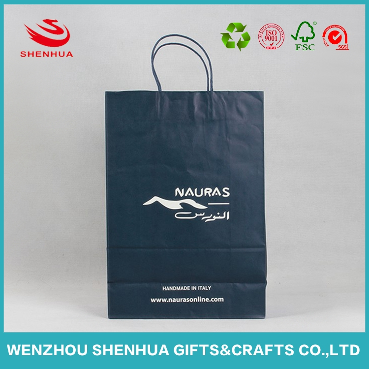 Environmental material paper t-shirt cloth packing bags for shopping