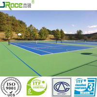 outdoor plastic flooring cushion rubber covering tennis court flooring