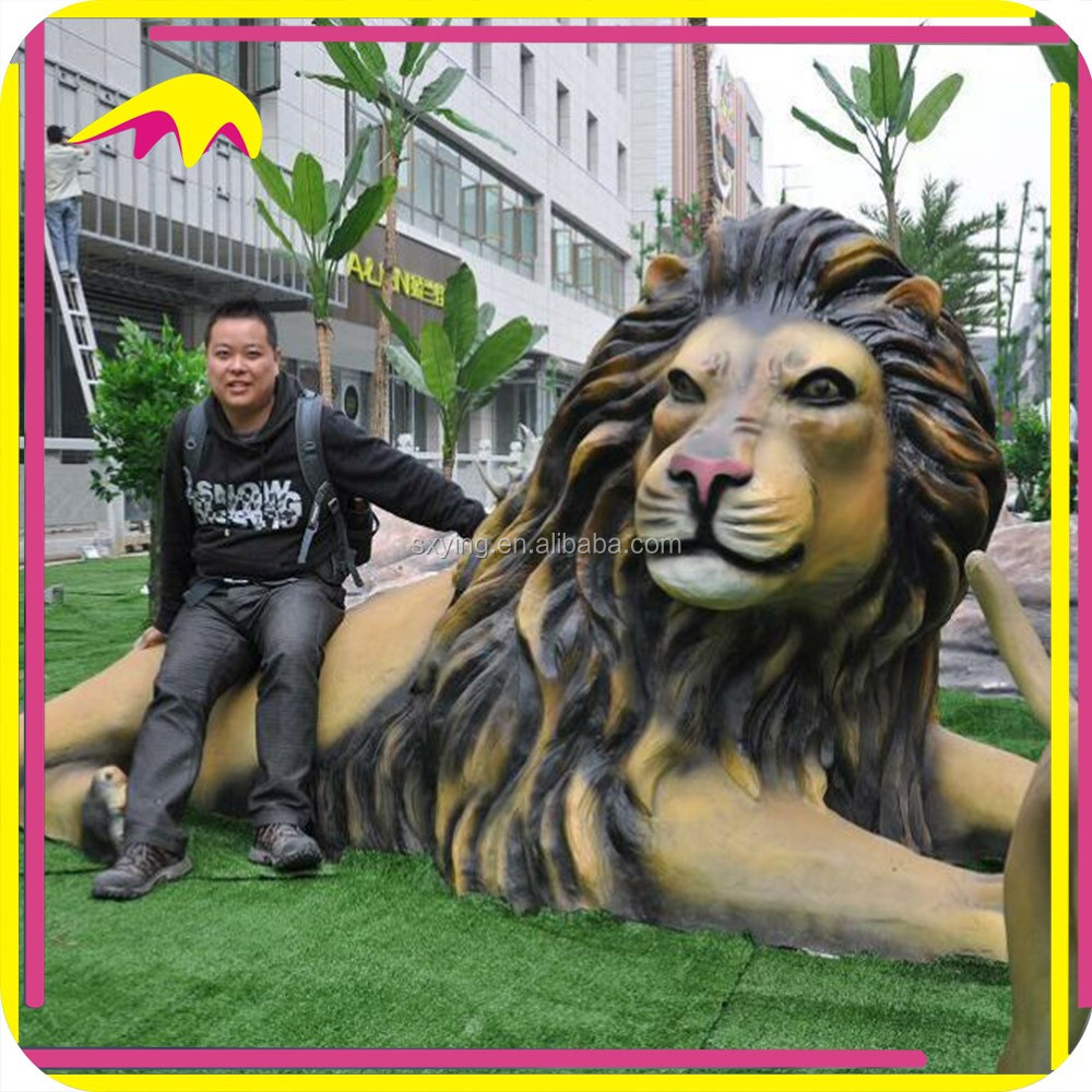 KANO1077 Outdoor Playground Decorative Artificial Lion Sculpture