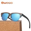 Custom logo wholesale sunglasses made from natural bamboo with cases
