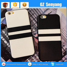 Stick Skin Fringe Pu Back Mobile Phone Case For Iphone 5 6 6 Plus