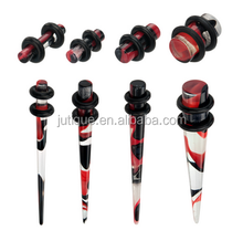Red/Black No Flare Plugs & Tapers Set w/ O-Rings