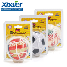 Hanging Soccer Ball Shape Promotional Gift Plastic Car Air Freshener