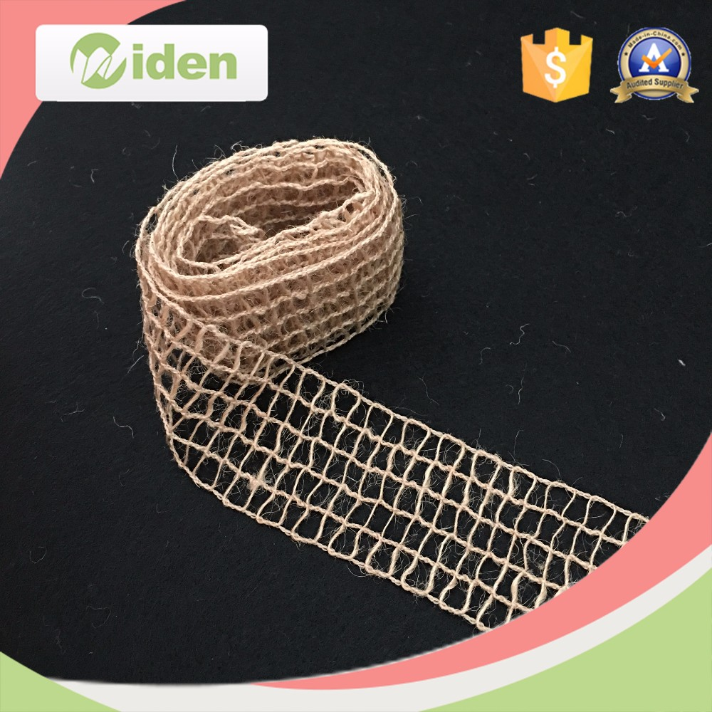 Wholesale white burlap ribbons for wedding gift decoration / jute ribbon wholesale