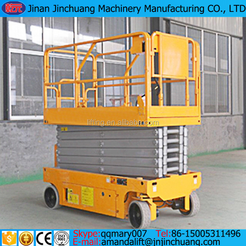 Mobile battery power self propelled scissor lift electric hydraulic scissor man lift