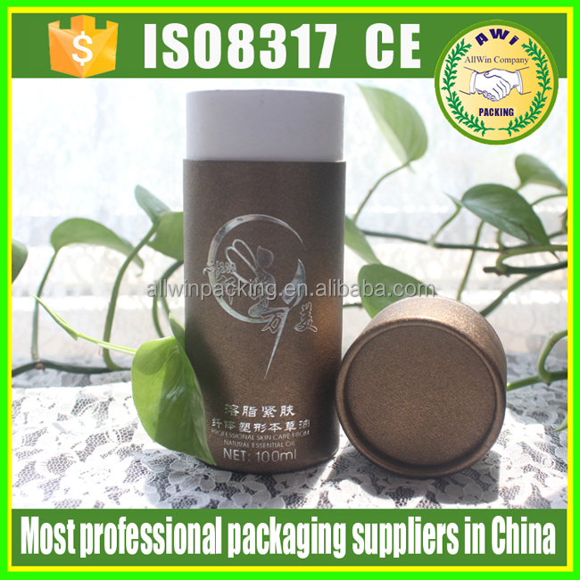 AWI Custom black candle powder packaging paper tube