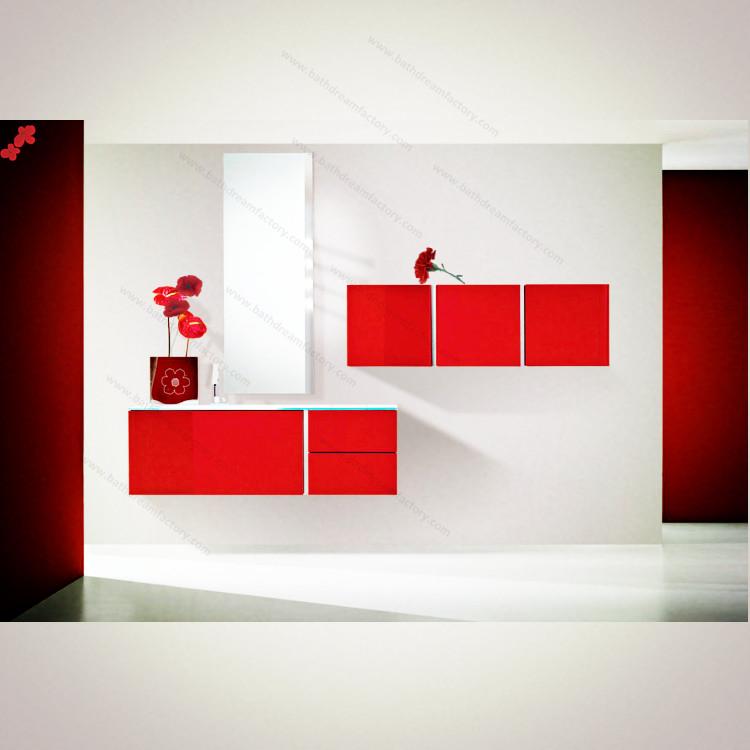 bathroom cabinet modern red gloss cabinets designer red bathroom