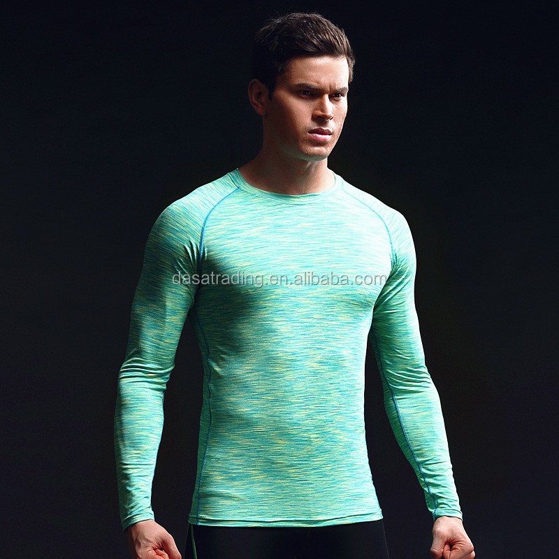 DS-ST057 Fitness Sports Wear Men's Tight Sports <strong>T</strong>-<strong>shirts</strong> Solid Color Running Quick Dry GYM Long Sleeve Men Custom <strong>T</strong>-<strong>shirt</strong>
