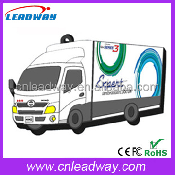 OEM Silicone PVC Truck Shape USB Flash Memory New Products 2017