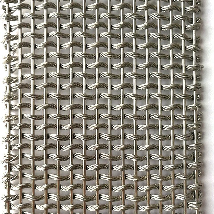 304 316 316L Stainless Steel wall cladding flexible woven metal chain rope cable architectural curtain decorative wire <strong>mesh</strong>
