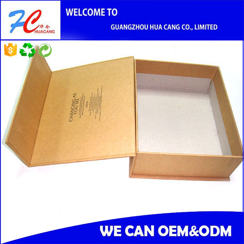 Magnet closed paper hardcover box with spot UV printing