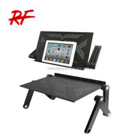 Folding& Adjustable Laptop table for travel equiped with Mouse Pad