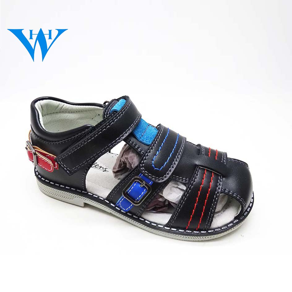 HW-1010 summer fashion custom china wholesale cheap sandals casual flat kids shoes