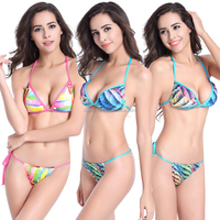 New Arrival mini Bottom Fully lined Removable pad sexy Girl micro swimwear models Bikini 2015