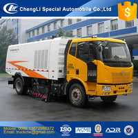 China FAW Vacuum Cleaning and Sweeping vehicle manufacturer 4x2 Highway Airport Street Vacuum Road Sweeper cleaner truck 3-12cbm