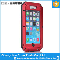 Aluminum Waterproof Case for iPhone 6, for iPhone 6 Shockproof Dropproof Case Metal Glass Cover