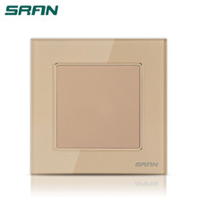 1 gang golden color blank plate socket switch