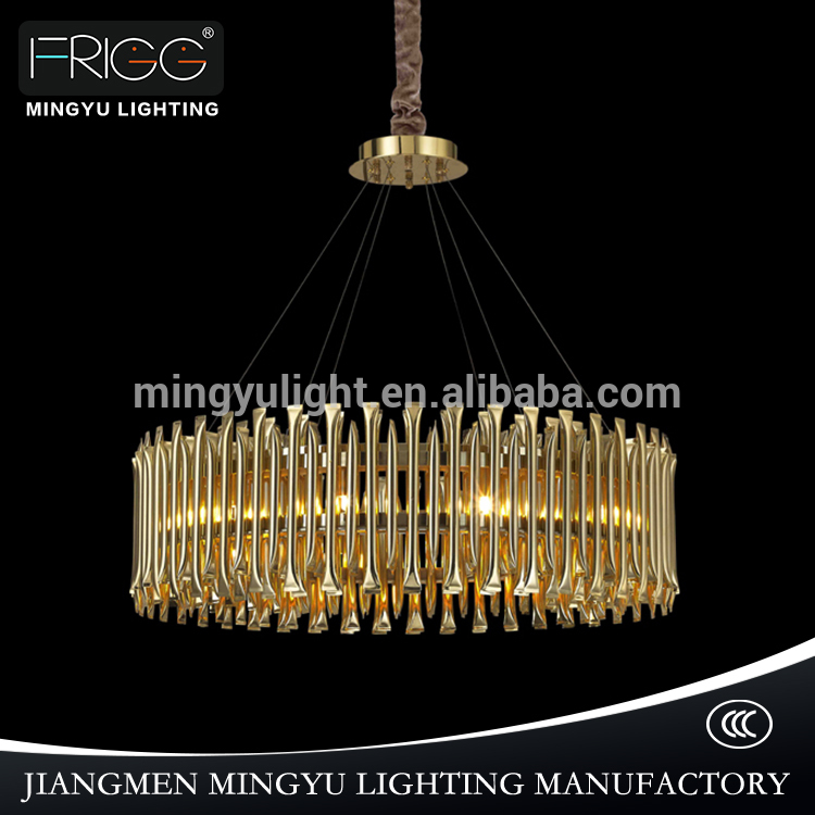 Modern fashion ceiling lamp hall decorative hanging light brass iron chandeliers