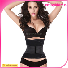 Abdominal slimming lady waist belt black belt reduce belly fat