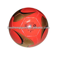Hot!!! Shiny colorful machine sew cheaper promotion fooball