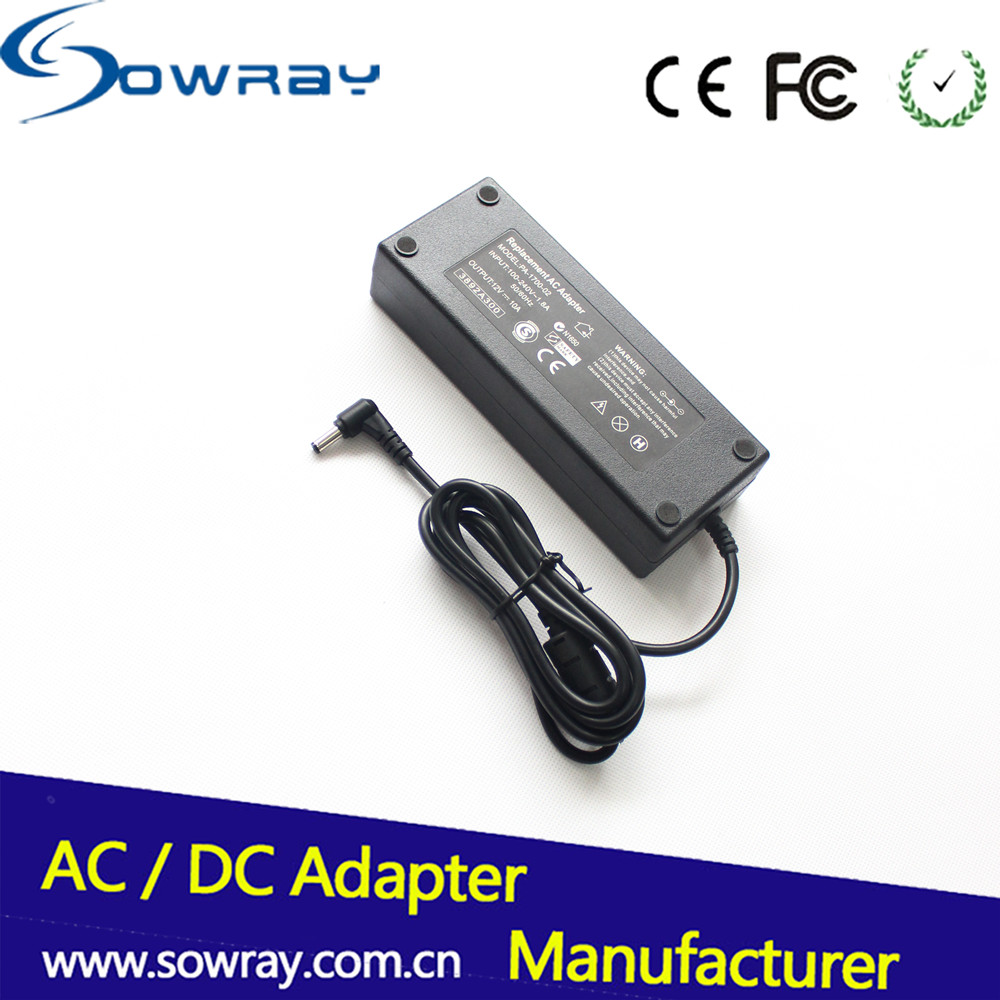 EU AU UK US AC/DC black desktop 12V 10A 120W power adapter use for laptop electrical appliance