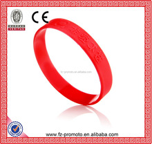 Embossed Cross Silicone Bracelet Epoxy Wristband Rubber Professional Manufacture Embossed Sport Silicone Wristband