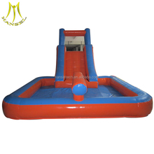 Hansel amusement park equipment supplies and indoor playground for kids with inflatable dry slide for sale