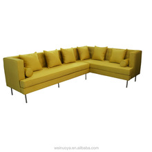 2015 Living room sofas modern furniture L shape reclining fabric corner sofa