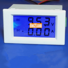 Dual Display Digital Voltage Current Meter DC 200V 0 -200A LED Detector DC Voltmeter Ammeter