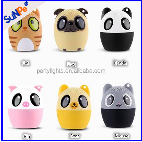 Cute mini panda animal bluetooth speaker with selfie and sling best kids toy gift portable wireless