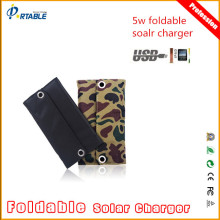 waterproof solar charger 5W for mobile phone with voltage controller and standard USB port