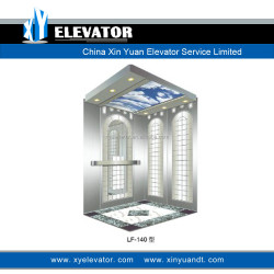Stainless Steel Hairline Passenger Lift Cabin