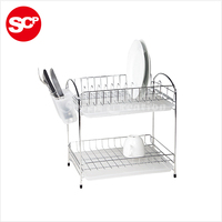 Cheap Wholesale Iron 2-layer dish drainer
