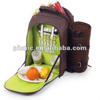 Promotional 4 persons picnic bag with large food compartment