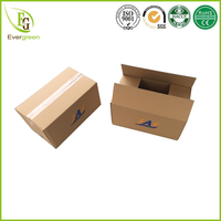 custom logo design single C flute moving boxes cardboard packaging