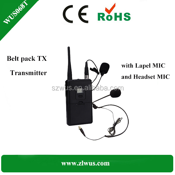 Multilingual Translation Device/8-95 channel Wireless digital Audio Transmitter with microphone for tourism and conference