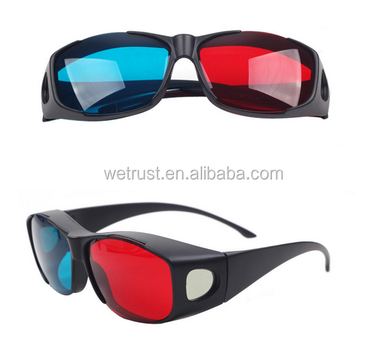 Wholesale 3D Glasses for Movies 3D Red Blue Film Glasses